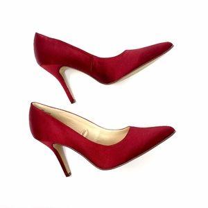 Nine West Red Satin Pump Heels